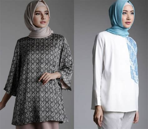Gambar Top Modern 32 model baju batik muslim modern terbaru co id