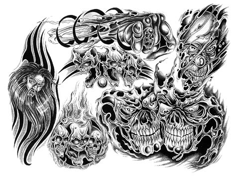 black and white skull tattoo designs black and white skull designs with