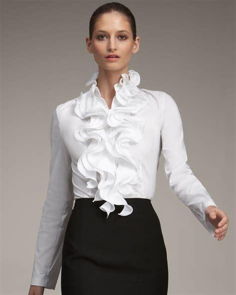 Ruffle Blouse white ruffle blouse clothing