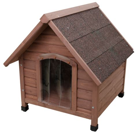 all season dog house wooden dog house classic kennel with pitched roof for small or medium size dogs