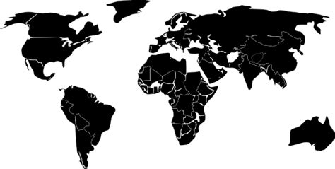 world map outline vector black white outline world map clip at clker