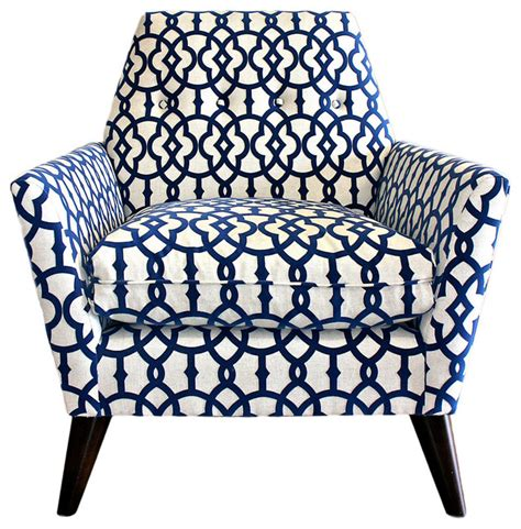 Navy Blue And White Accent Chair Porter Chair Navy White Midcentury Armchairs And Accent Chairs By One