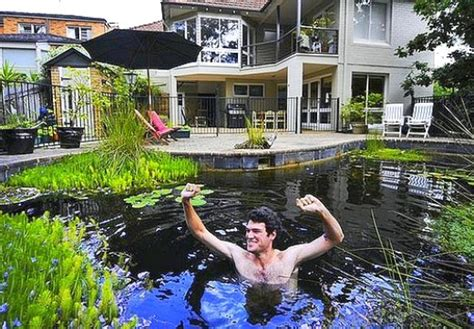 building a backyard pond by converting your swimming pool
