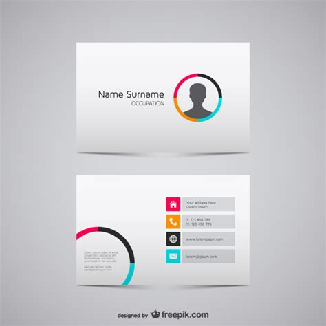 email business card templates minimalist business card with silhouette vector free