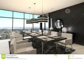 Modern design dining room living room interior stock photos image