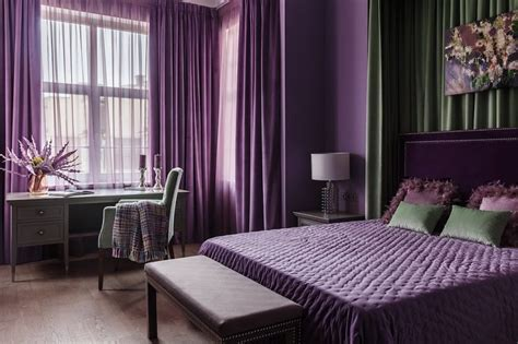 purple bedroom design ideas stylish interiors  color
