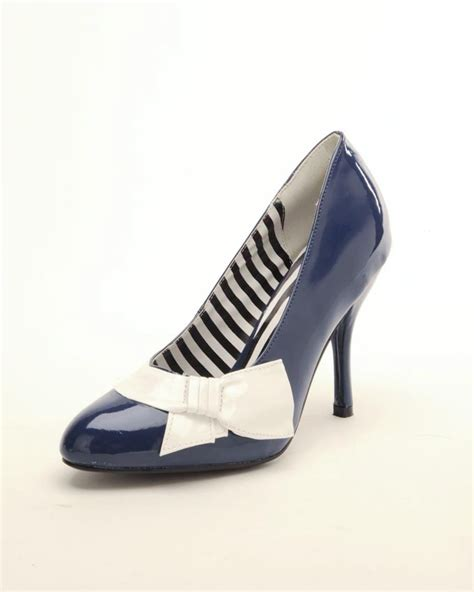 navy and white shoes my style