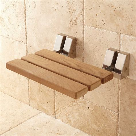 shower bench seats wall mount teak folding shower seat bathroom