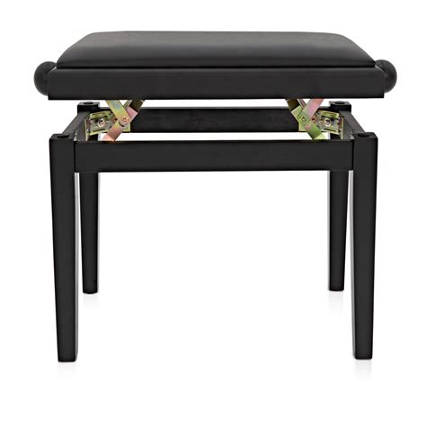 adjustable piano stool by gear4music matte black at