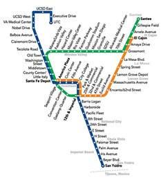 San Diego Trolley Map by Trolley Lrt