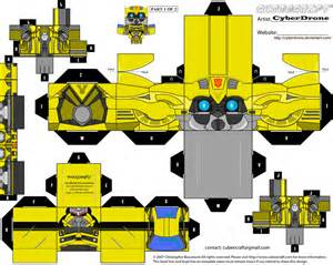 Papercraft Transformers Bumblebee - paper crafts transformer animated bumblebee