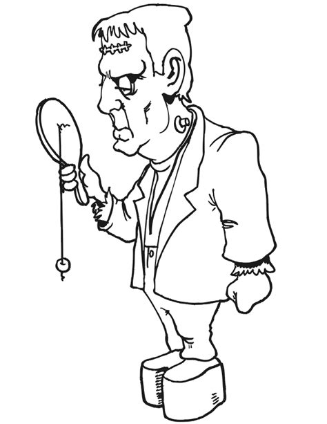 Frankenstein Coloring Page Coloring Home Frankenstein Coloring Pages