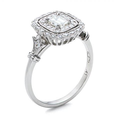estate halo engagement ring 100902