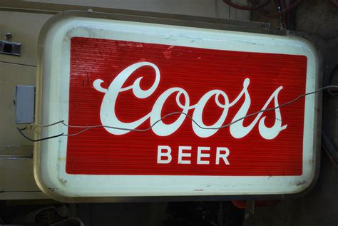 coors light beer sign commercial outdoor lighted coors sign collectors weekly