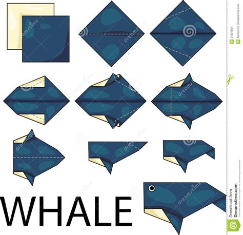 How To Make An Origami Whale - origami whale stock images image 31697604