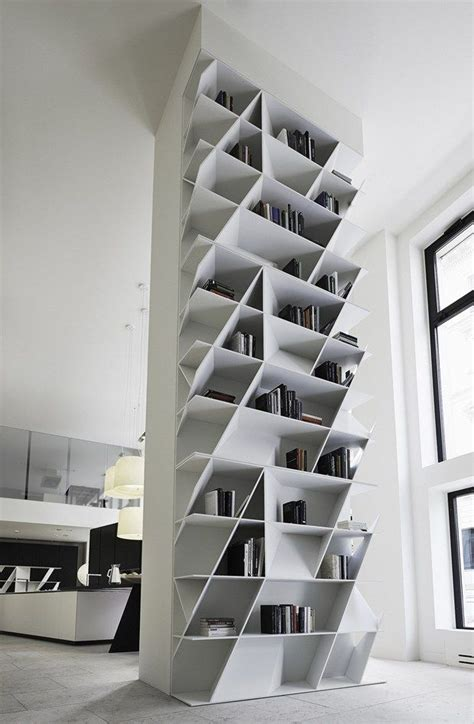 geometric bookcases and wall units home decorating