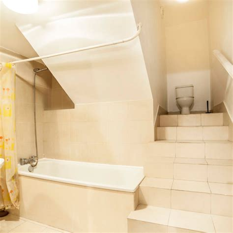bathroom auction sites london flat has bizarre toilet at the top of the bathroom stairs ideal home