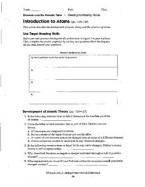 Introduction To Energy Worksheet Answers by Introduction To Atoms 9th 12th Grade Worksheet Lesson