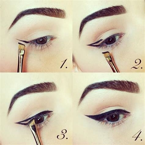 eyeliner tutorial thin how to apply wingtip eyeliner lou stevens