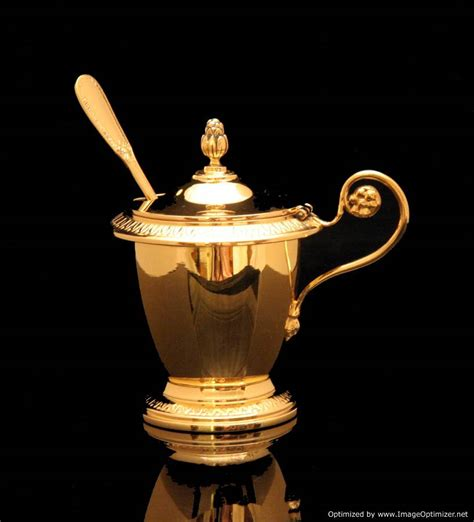 Tea Set Napoleon 7 Picese tetard vermeil gold plated sterling silver tea set