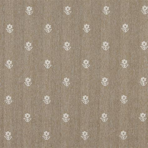 lightweight drapery fabric light brown and ivory flowers country upholstery fabric