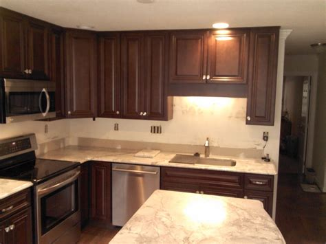 kitchen cabinet replacement  oak  walnut stained