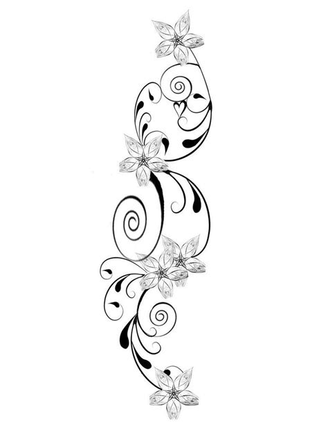 vine flower tattoo designs flower flower design pictures my
