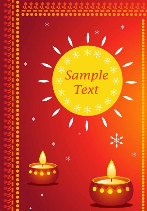 diwali greeting card templates free happy diwali greeting cards vector free 123freevectors