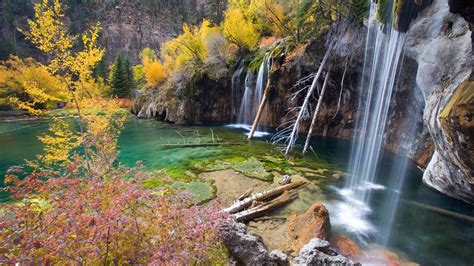 Streams rivers water nature landscapes waterfalls trees ... Fall Nature Wallpaper