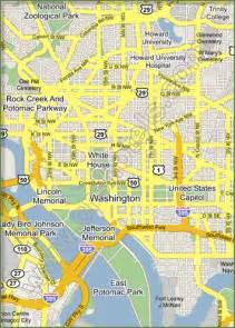 washington dc map of cities washington dc district of columbia map