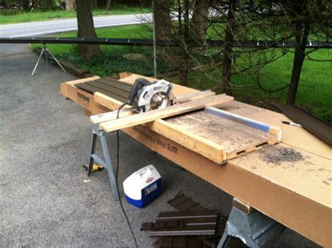 tapco vinyl siding cutting table siding cut table ez angle siding saw table
