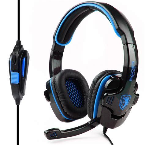 Headset Sades Gaming sades sa 708gt hifi stereo bass headset headband 3 5mm pc