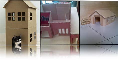contoh membuat rumah dari kardus contoh pemanfaatan limbah kardus yang dapat dijual