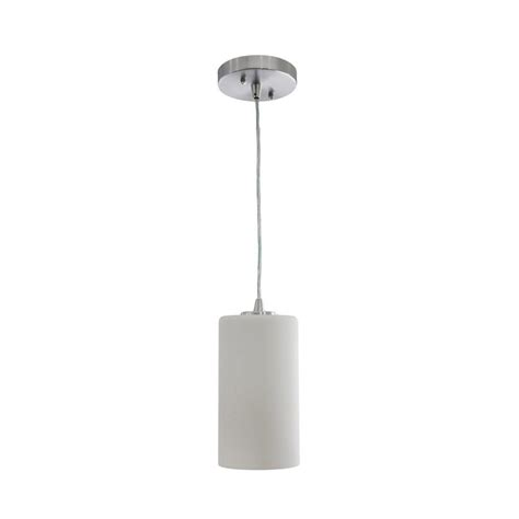 Shop Vonn Lighting Subra 4 75 In White Cylinder Led Cylinder Pendant Lighting