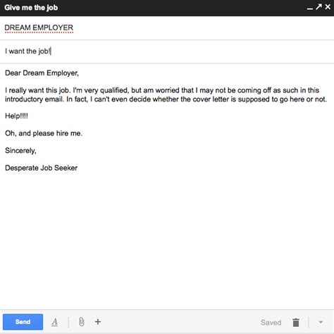 how to send cover letter in body of email howsto co