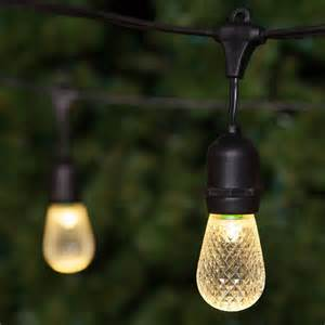 Led Patio Lights String Commercial Patio String Lights Warm White S14 Led Bulbs Suspended Yard Envy