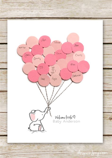 Baby Shower Guest Book Printable elephant baby shower guest book printable aspen