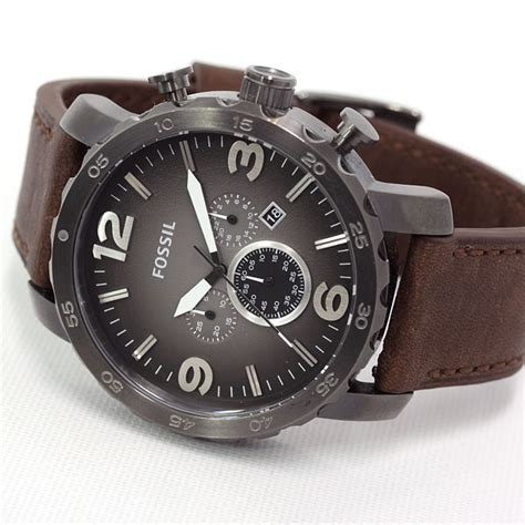 Fossil Original Jr 1436 Leather Stainless Steel fossil s chronograph jr1424 brown leather bracelet genuine new ebay
