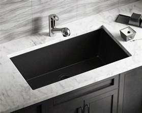 Brushed Bronze Kitchen Faucet 848 Black Large Single Bowl Undermount Trugranite Kitchen Sink