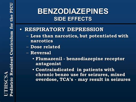 Flumazenil For Benzo Detox by Sedation And Analgesia In The Picu Ppt
