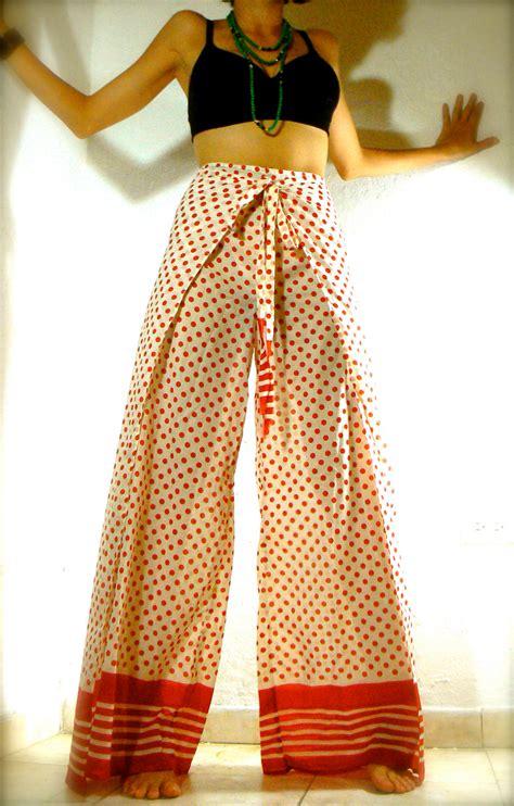 sale dots high waist wrap around skirt pant