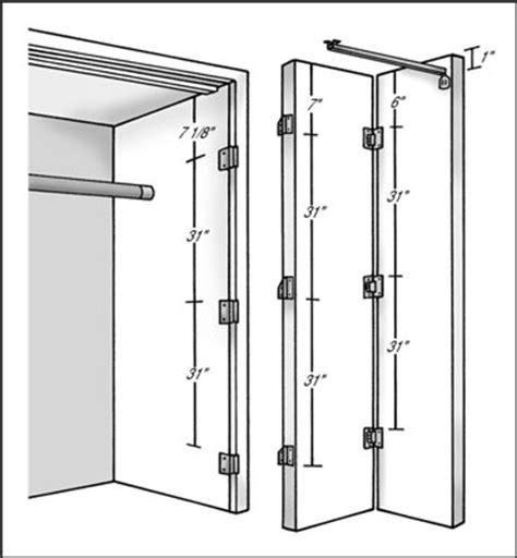 how to hang bi fold doors dummies
