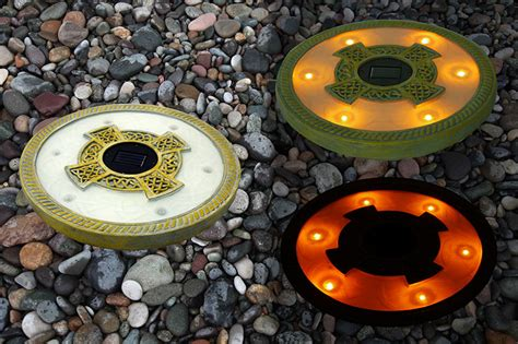 lightweight patio stones solar light stepping stones