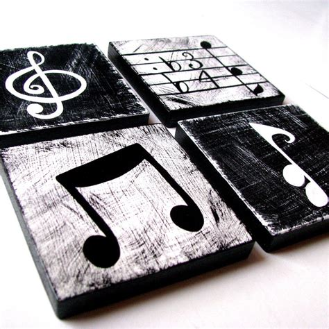 music wall decor music inspired black and white wall art by whimsicalartblocks