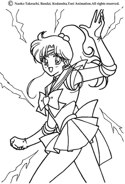 sailor jupiter posture coloring pages hellokids com