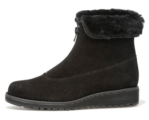 Zipper Ankle Boots ankle boot with front zipper black suede high quality