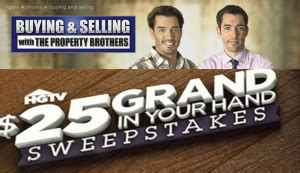 Hgtv 25000 Sweepstakes - hgtv win 1 of 4 grand prizes of a 25 000 check from hgtv 25 gra giveawayus com