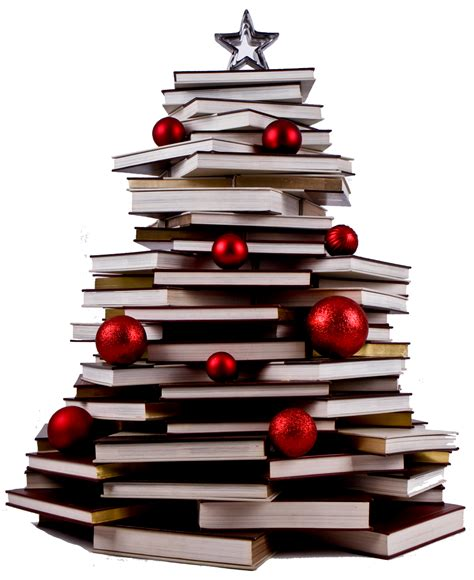 super bookworm girl christmas tree of books