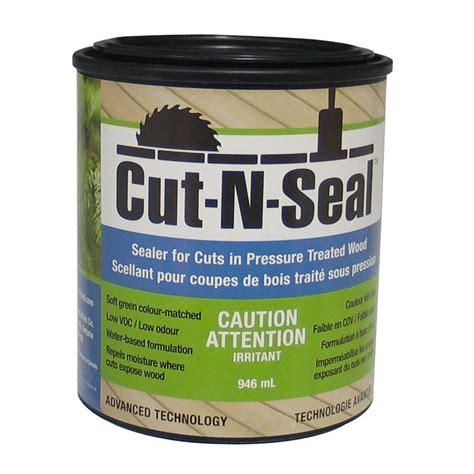 exterior sealant paint dynamic cut n seal 946ml pressure treated wood sealant
