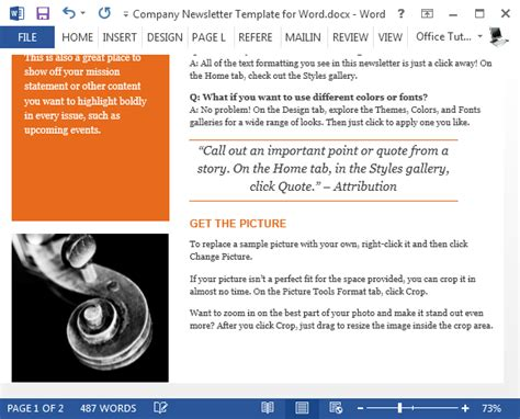 newsletter article template 28 images elementary